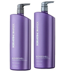 Keratin Complex Debrass Brighten Blondeshell 1000ml Shampoo & Conditioner